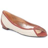 Schuhe Damen Ballerinas Azzaro JOUR Beige / Camel