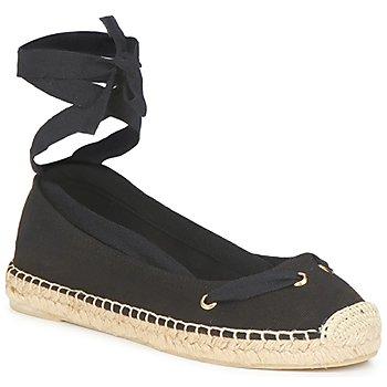 Schuhe Damen Leinen-Pantoletten mit gefloch Jonak JIMENA Schwarz