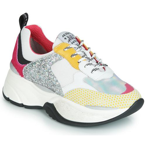 Schuhe Damen Sneaker Low Meline PUNKY DADDY Weiss / Rose