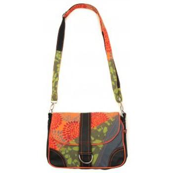 Taschen Damen Umhängetaschen Bamboo's Fashion Petit Sac Besace New Dehli GN-144 Orange/Vert Orange