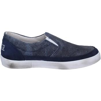 Schuhe Damen Slip on 2 Stars slip on blau leder wildleder BT801 blau