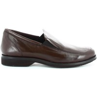 Schuhe Herren Slipper Fontana 5642-N Mocassins Man Brown Brown