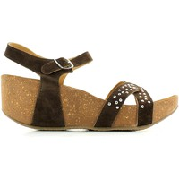 Schuhe Damen Sandalen / Sandaletten De Fonseca 5FVT Wedge sandals Frauen Brown