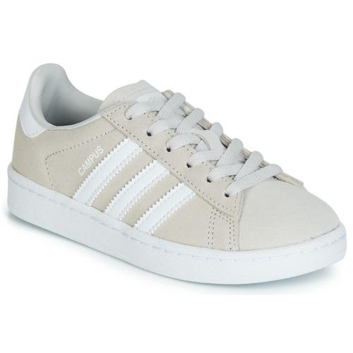 adidas Originals Sneaker Campus hellgrau weiß Schuhe Kindermode