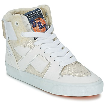 Schuhe Damen Sneaker High Superdry MARIAH HIGH TOP Weiss