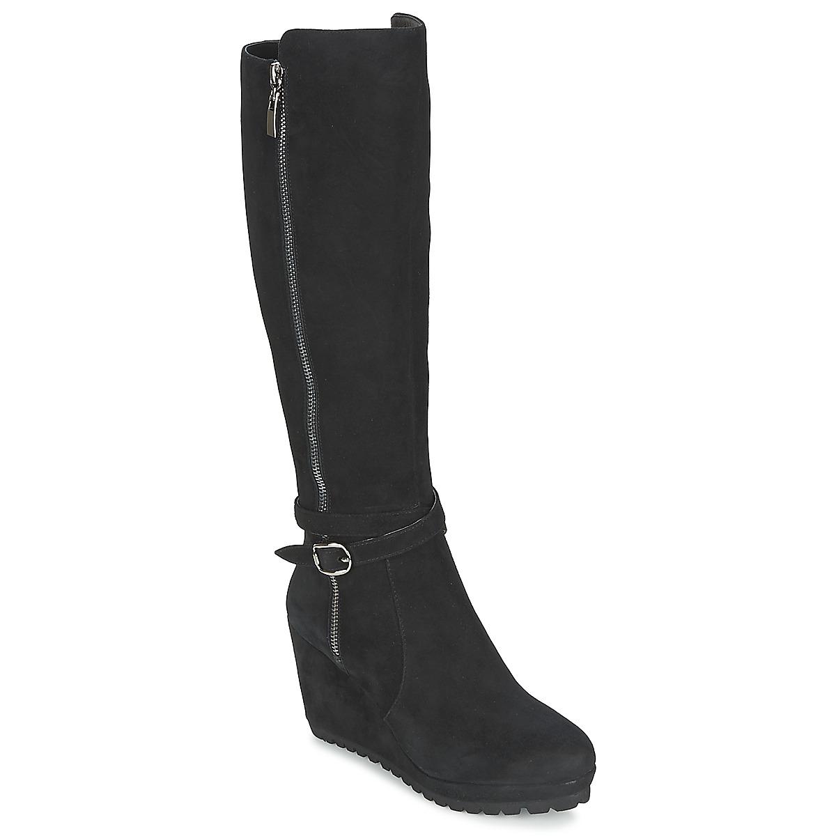 Moda In Pelle SITA Schwarz - Kostenloser Versand bei Spartoode ! - Schuhe Klassische Stiefel Damen 154,40 €