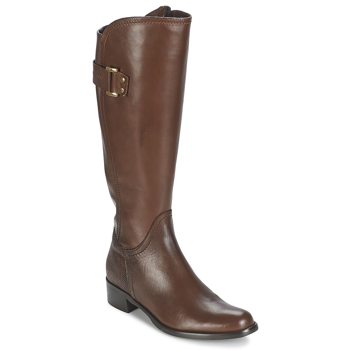 Moda In Pelle SANTOSA Braun - Kostenloser Versand bei Spartoode ! - Schuhe Klassische Stiefel Damen 163,20 €