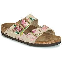 Schuhe Damen Pantoffel Birkenstock ARIZONA Beige
