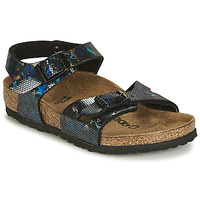 Schuhe Mädchen Sandalen / Sandaletten Birkenstock RIO Schwarz