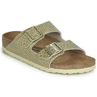 Schuhe Damen Pantoffel Birkenstock ARIZONA Gold