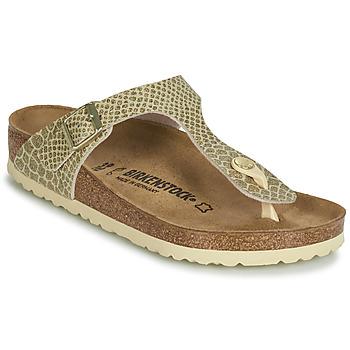 Schuhe Damen Zehensandalen Birkenstock GIZEH Gold
