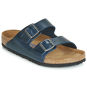 Schuhe Herren Pantoffel Birkenstock ARIZONA SFB Blau