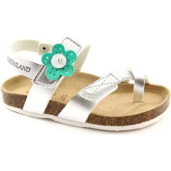 Schuhe Mädchen Sandalen / Sandaletten Grunland GRU-SB0548-AR Argento