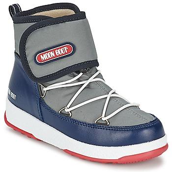 Schuhe Jungen Schneestiefel Moon Boot MOON BOOT WE STRAP JR Grau / Blau