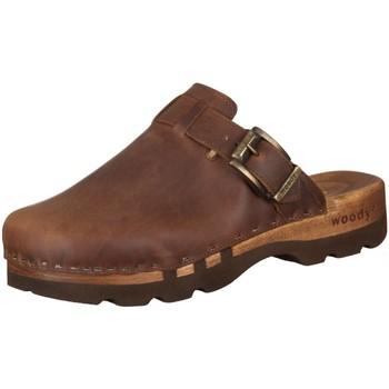 Schuhe Herren Pantoletten / Clogs Woody Offene Lukas 6911 Fettleder 6911 braun