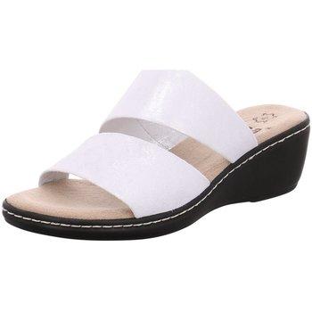 Schuhe Damen Pantoffel Jana Pantoletten 8-8-27215-20/941 weiß