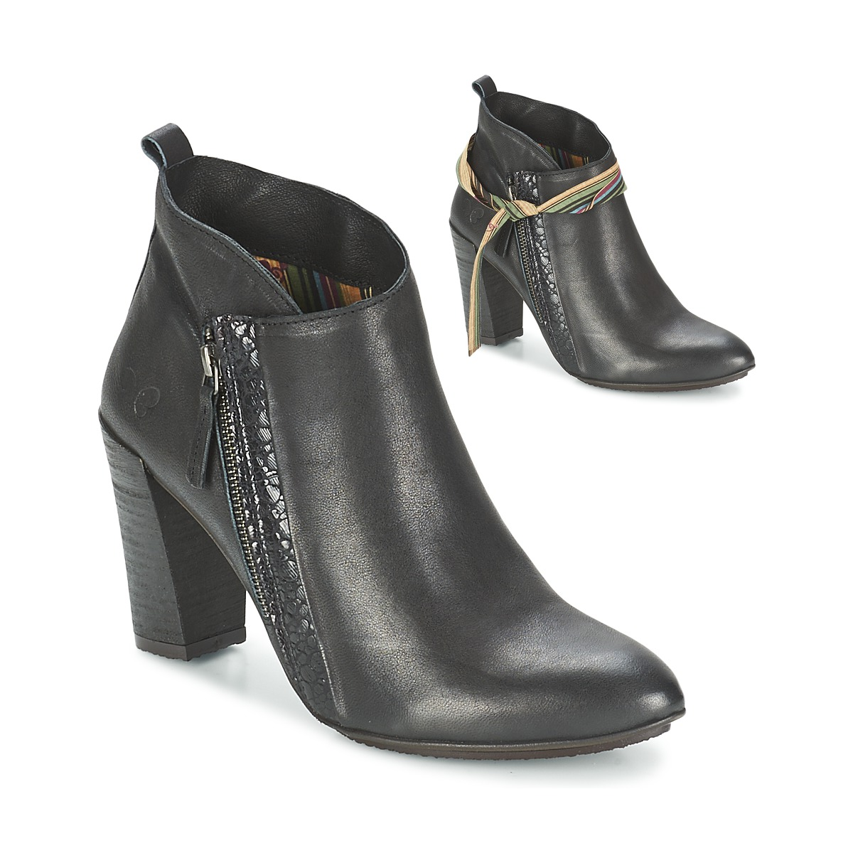 Felmini CASSANDRE Schwarz - Kostenloser Versand bei Spartoode ! - Schuhe Low Boots Damen 83,90 €