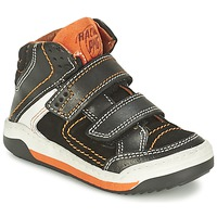 Schuhe Jungen Sneaker High Primigi MOTT Schwarz / Orange