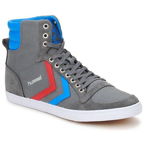 Sneaker Hummel TEN STAR HIGH CANVAS Grau / Blau / Rot 350x350