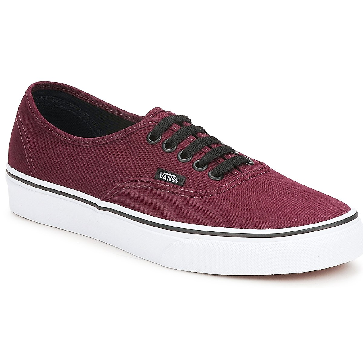 vans authentic vqer unisex erwachsene sneakers rot port. Black Bedroom Furniture Sets. Home Design Ideas