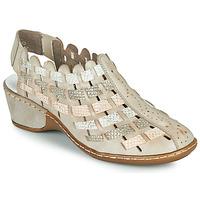 Schuhe Damen Sandalen / Sandaletten Rieker ROBERTO Silbern