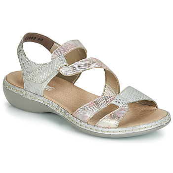 Schuhe Damen Sandalen / Sandaletten Rieker AMAZU Silbern