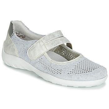 Schuhe Damen Ballerinas Remonte Dorndorf HUIJI Silbern