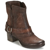 Schuhe Damen Low Boots Dream in Green VINEL Kaffee