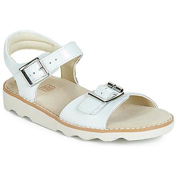 Schuhe Mädchen Sandalen / Sandaletten Clarks Crown Bloom K Weiss