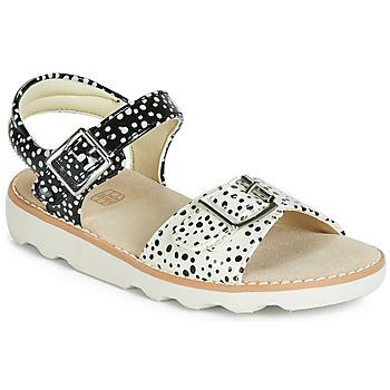 Schuhe Mädchen Sandalen / Sandaletten Clarks Crown Bloom K Schwarz