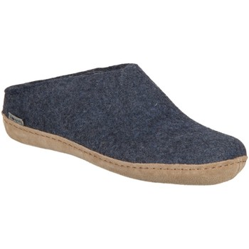 Schuhe Herren Hausschuhe Diverse Open Heel B-10-00 denim Lammwollfilz B-10-00 blau