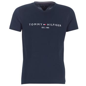 Kleidung Herren T-Shirts Tommy Hilfiger TOMMY FLAG HILFIGER TEE Marine