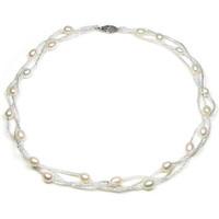 Uhren & Schmuck Damen Collier Blue Pearls BPS 0202 Y Weiss