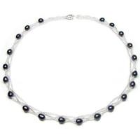 Uhren Damen Collier Blue Pearls BPS 0202 Y Schwarz