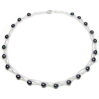 Uhren & Schmuck Damen Collier Blue Pearls BPS 0202 Y Schwarz