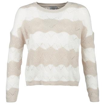 Kleidung Damen Pullover Only ONLKARO Beige / Naturfarben