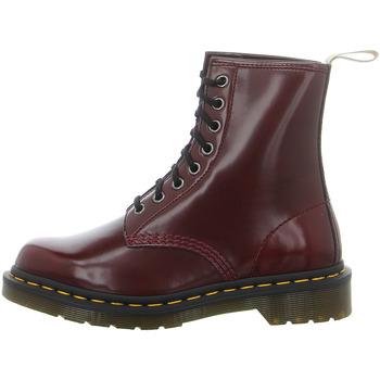 Schuhe Damen Boots Dr Martens Stiefeletten Oxford Rub Off Boot 23756600 rot