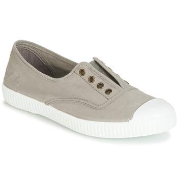 Schuhe Sneaker Low Victoria INGLESA ELASTICO TINTADA Grau