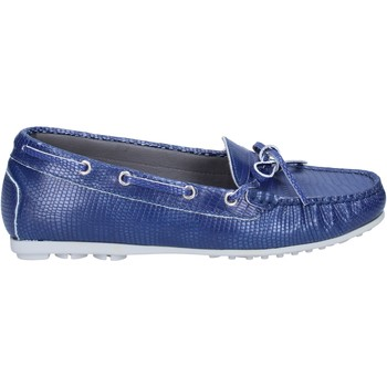 Schuhe Damen Slipper K852 & Son mokassins blau leder BT933 blau