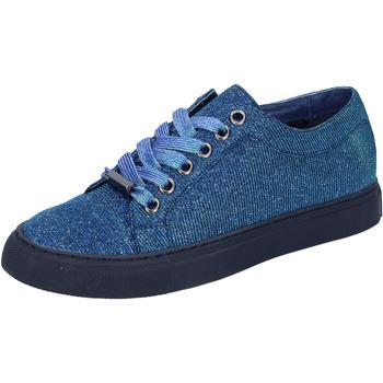 Schuhe Damen Sneaker Low Sara Lopez sneakers blau textil BT995 blau