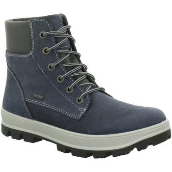 Schuhe Jungen Boots Legero Schnuerstiefel 00474-95 blau