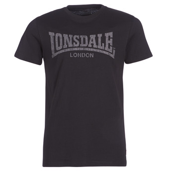 Kleidung Herren T-Shirts Lonsdale LOGO KAI Schwarz
