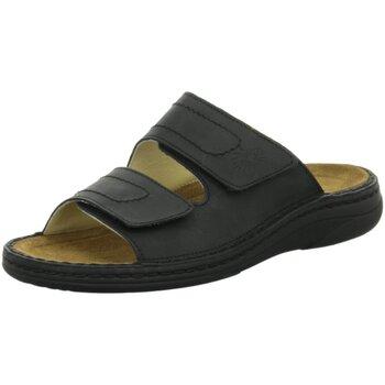 Schuhe Herren Pantoffel Helix Offene 82011-33 schwarz