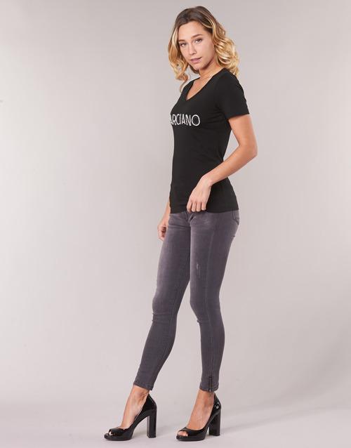 Marciano LOGO PATCH CRYSTAL Schwarz - Kostenloser Versand |  - Kleidung T-Shirts Damen 5592 A2pP1