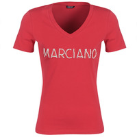 Kleidung Damen T-Shirts Marciano LOGO PATCH CRYSTAL Rot