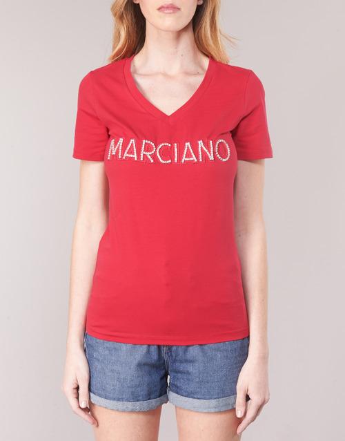 LOGO PATCH CRYSTAL  Marciano  t-shirts  damen  rot