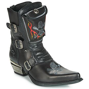Schuhe Herren Klassische Stiefel New Rock M-WST024-S3 Schwarz