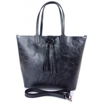 Taschen Damen Shopper / Einkaufstasche Vera Pelle SB599N Schwarz