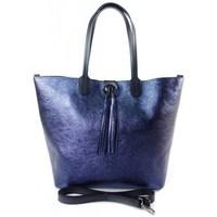 Taschen Damen Shopper / Einkaufstasche Vera Pelle SB599BS Dunkelblau
