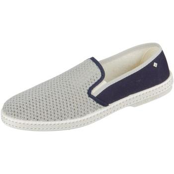 Schuhe Herren Slip on Rivieras Slipper MALTESA FALCON 9213 bleu gris 9213 grau